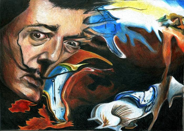 Карикатура на картину Сальвадора Дали «Постоянство памяти». | Фото: img08.deviantart.net.