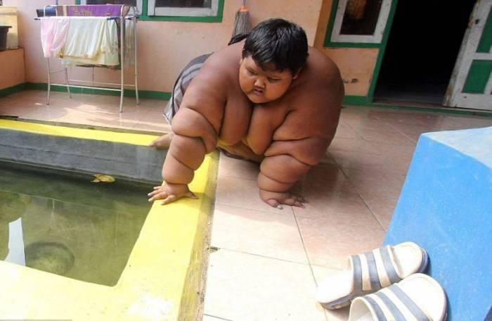 Вес самого толстого в мире 10-летнего мальчика составляет 192 кг.