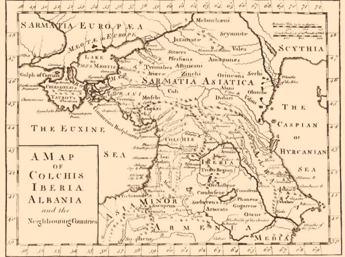 Карта Сарматии. | Фото: fictionbook.ru.