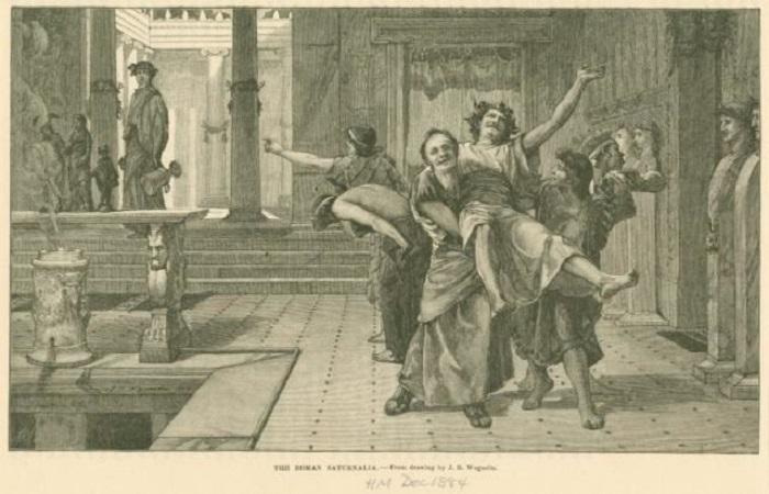 Римские сатурналии. | Фото: thevintagenews.com.