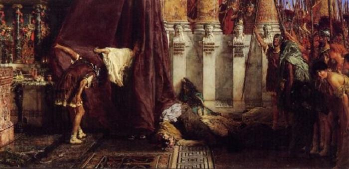 Аве Цезарь! Ио, Сатурналии! Лоуренс Алма-Тадема, 1880 год. | Фото: thevintagenews.com.