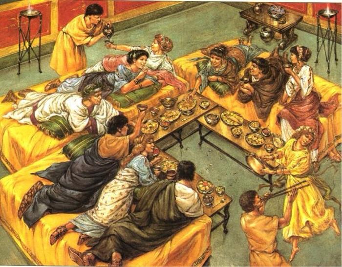 Сатурналии - праздник, в котором рабы менялись местами с господами. | Фото: messagetoeagle.com.