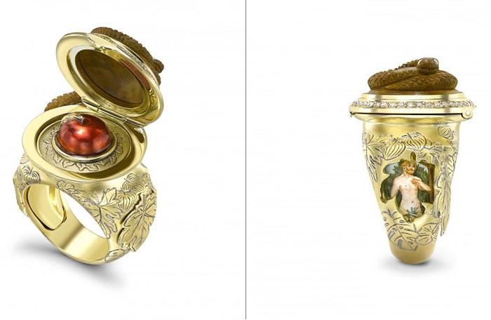 Кольцо, сделанное ювелиром Тео Фннелом.
