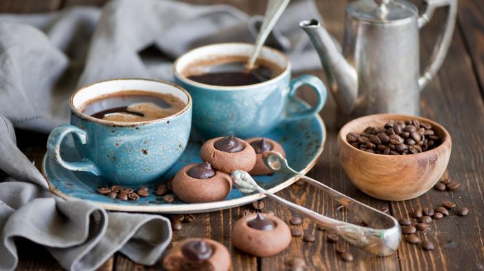 Кофе - самый любимый бодрящий напиток.