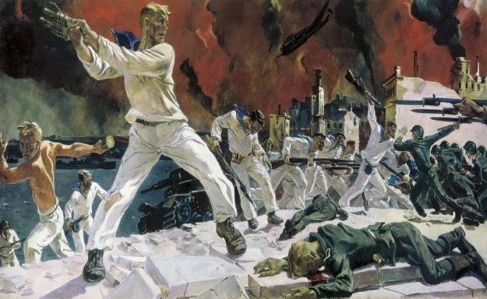 Оборона Севастополя. А. Дейнека, 1942 год. | Фото: newscrimea.ru.
