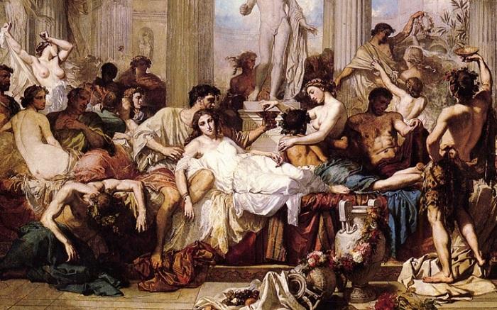 Римляне времен упадка. Кутюр Тома, 1847 год. Фрагмент. | Фото: ideatube.science.