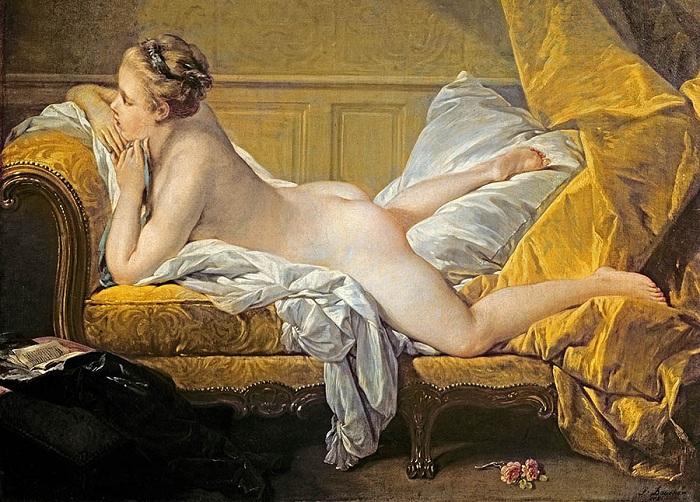 Светловолосая одалиска, Франсуа Буше, 1752. | Фото: arttrans.com.ua.