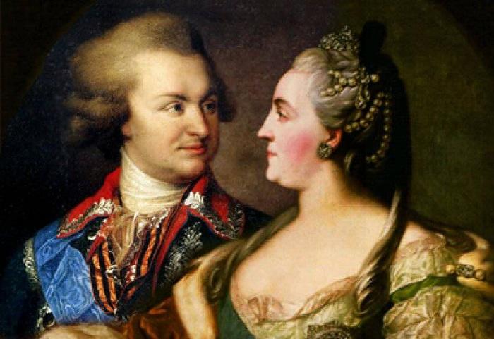 Екатерина II и князь Потемкин. | Фото: politobzor.net.