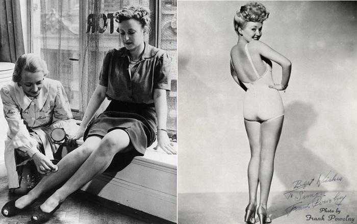 Вторая мировая война заставила американок брить ноги.