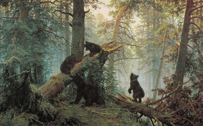 Утро в сосновом лесу. И. Шишкин, 1889 год. | Фото: ru-static.z-dn.net.