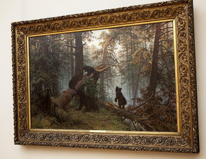 Утро в сосновом лесу. И. Шишкин, 1889 год. | Фото: ic.pics.livejournal.com.