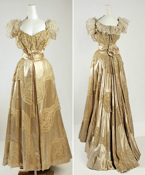 Платье из шелка. Франция, 1906 год. | Фото: fiveminutehistory.com.
