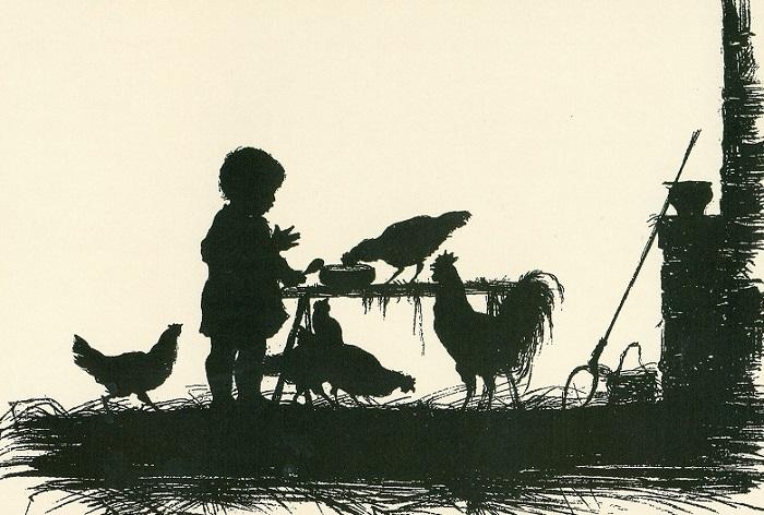 Силуэты, выполненные Елизаветой Бем. | Фото: cp12.nevsepic.com.ua.
