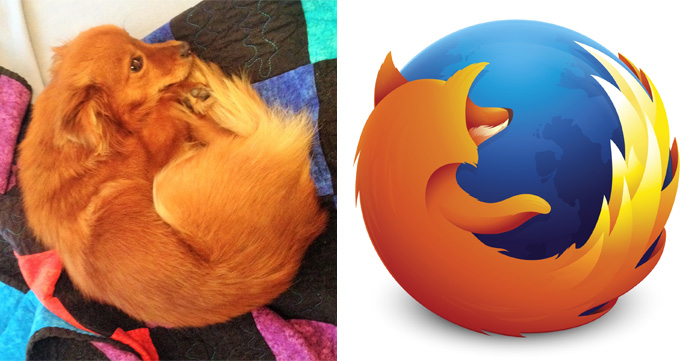 Собачка Firefox – новая эмблема для браузера.
