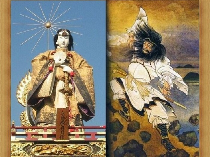 Богиня солнца Аматэрасу и бог ветра Сусаноо. | Фото: s57.radikal.ru.