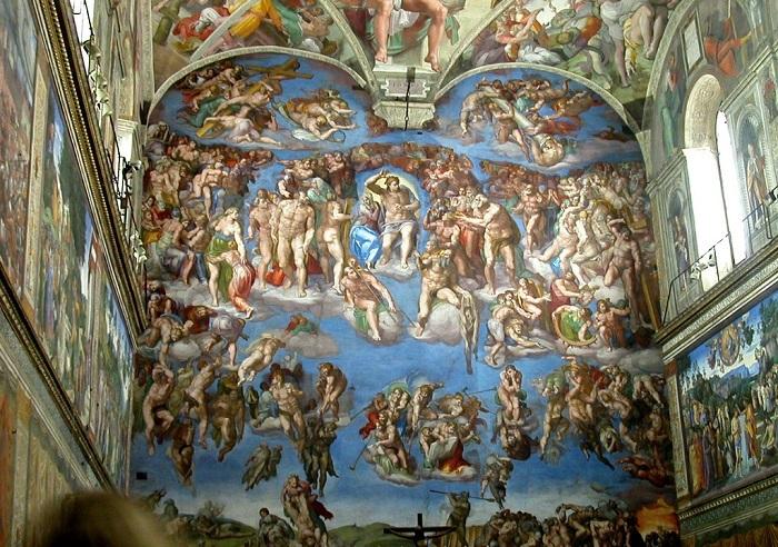 Страшный суд. Микеланджело.  Фото: cdn.dipity.com.