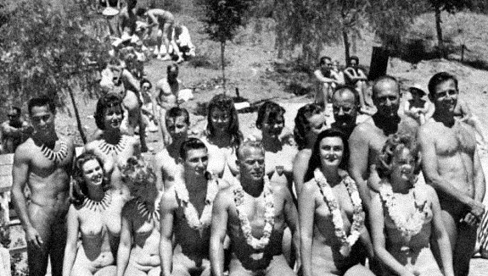 Популяризация нудизма в Европе начала 20 века.