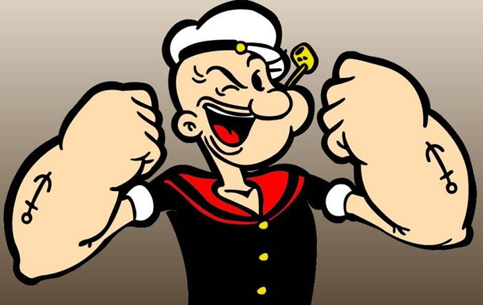 Моряк Попай - нестандартный супергерой.