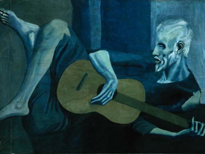 Старый гитарист. Пабло Пикассо.