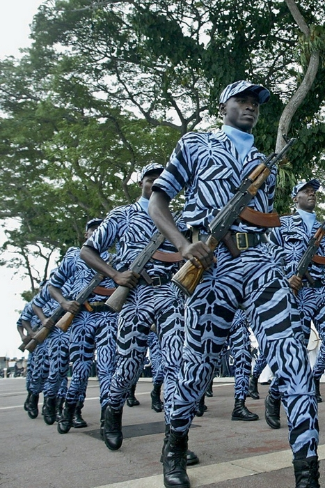 Военная форма солдатов Кот-д'Ивуара.