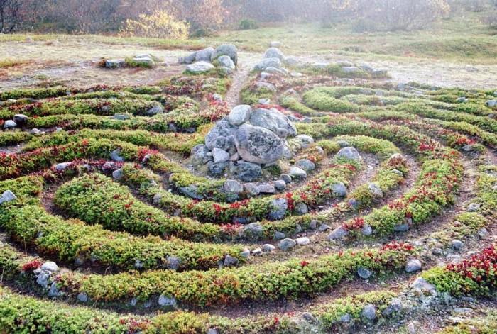 Лабиринт на Соловецких островах. | Фото: news24today.info.