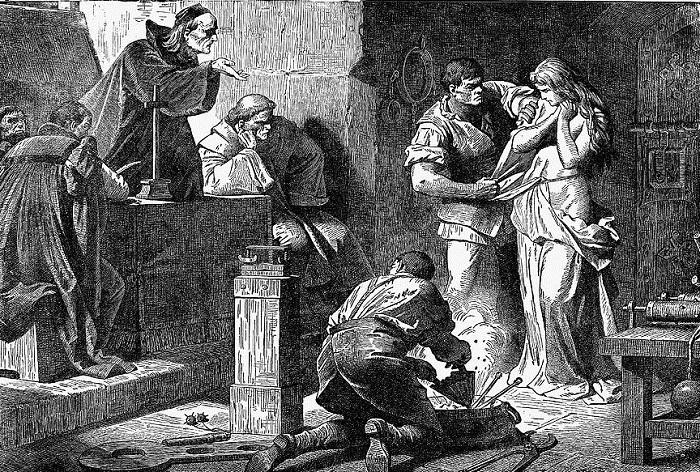 Средневековые пытки инквизиторов.
