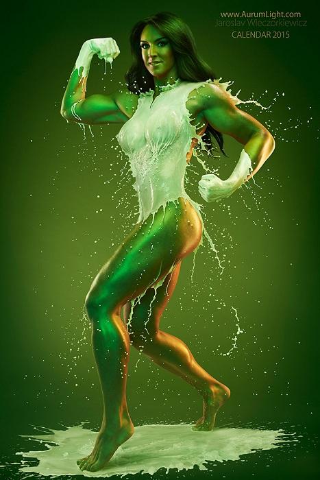 Образ зеленой девушки-Халка.