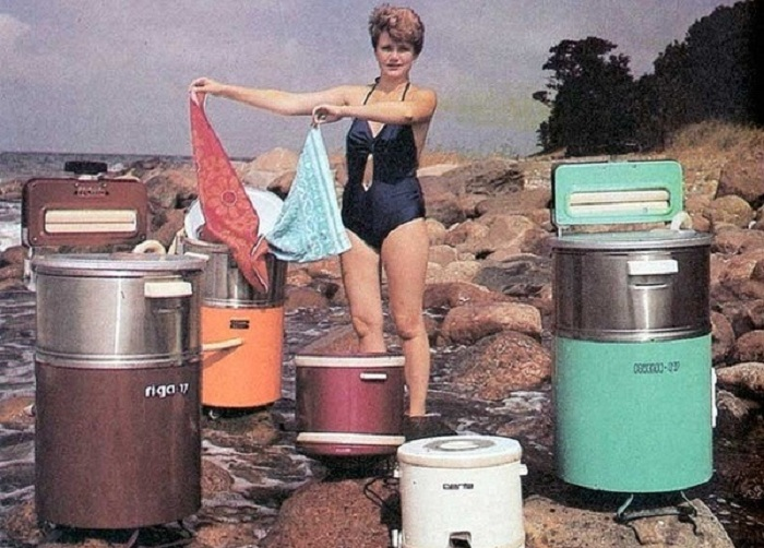 Реклама советских стиральных машин. | Фото: rem-tv24.ru.