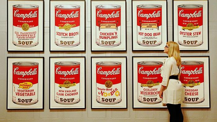 Этикетки от супов Campbells. | Фото: img2.ntv.ru.