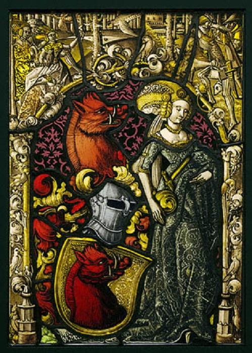 Геральдическая панель. Ок. 1490 г. | Фото: khanacademy.org.
