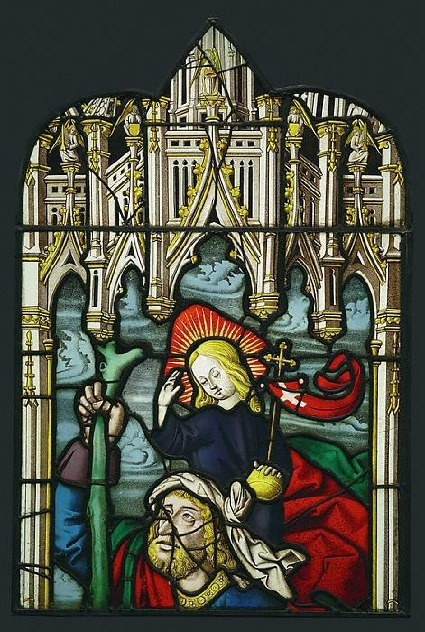 Витраж из Бургундии или Лотарингии. Ок. 1500-1510 гг. | Фото: khanacademy.org.