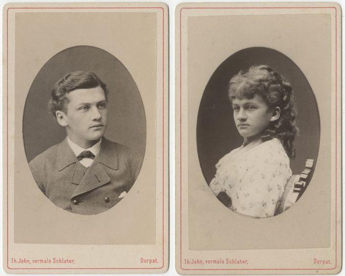 Max von Middendorff - студент тартуского университета в Эстонии, ок. 1880 г.