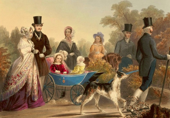 Коляски в XIX веке называли «герцогиня» или «принцесса». | Фото: april-knows.ru.