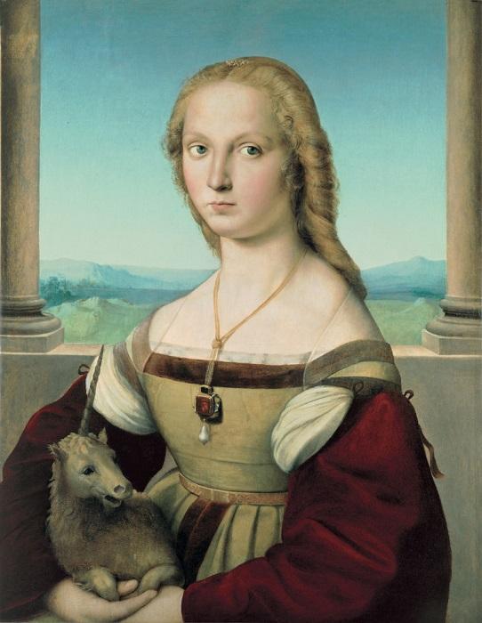 Дама с единорогом. Рафаэль, ок. 1506 г. | Фото: hyperallergic.com.