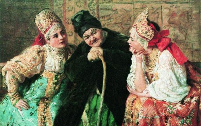 Сваха, К. Маковский, 1900 год.   Фото: images57.fotki.com.