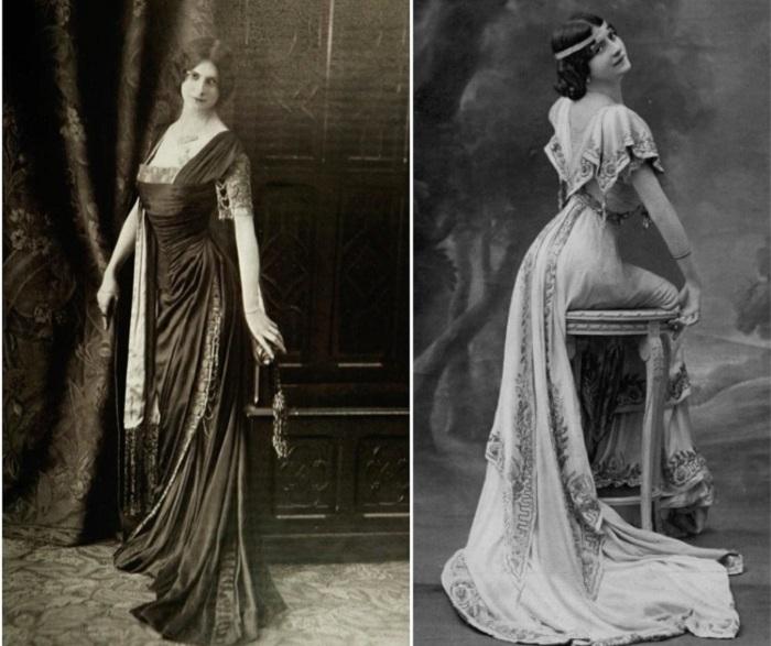 Женщина в платье 20 века