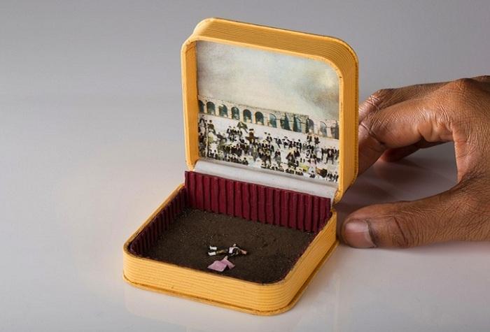Диорама в антикварной коробочке.