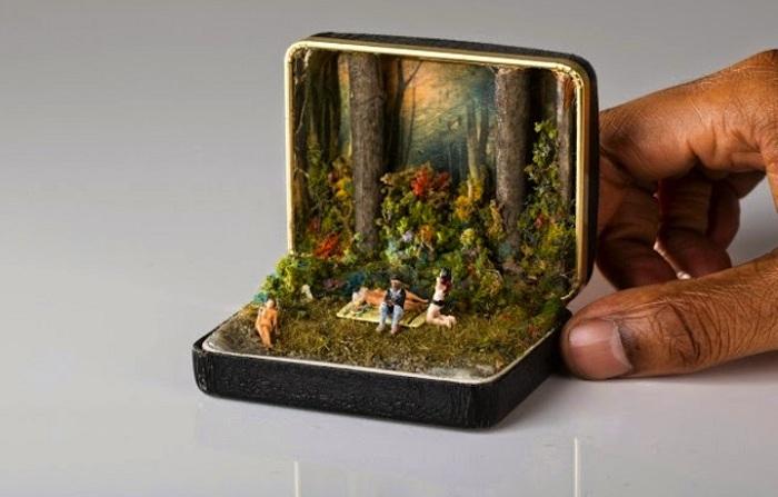 Оригинальные миниатюрные диорамы.