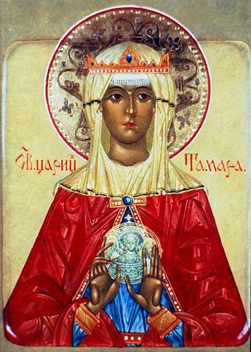 Лик Святой Тамары. | Фото: storyfiles.blogspot.com.