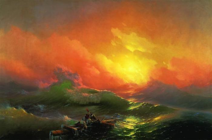 «Девятый вал». И. Айвазовский, 1850 год. | Фото: uploads8.wikiart.org.