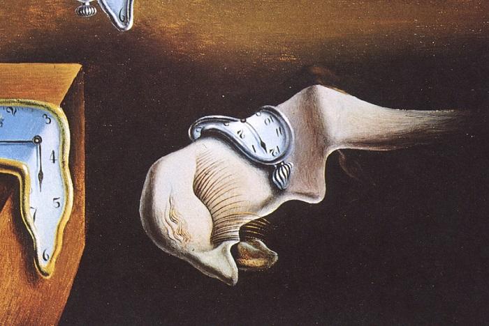La persistencia de la memoria. Фрагмент. | Фото: i0.wp.com.