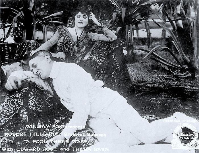 «A fool there was» - фильм, который принес Теде Бара успех.