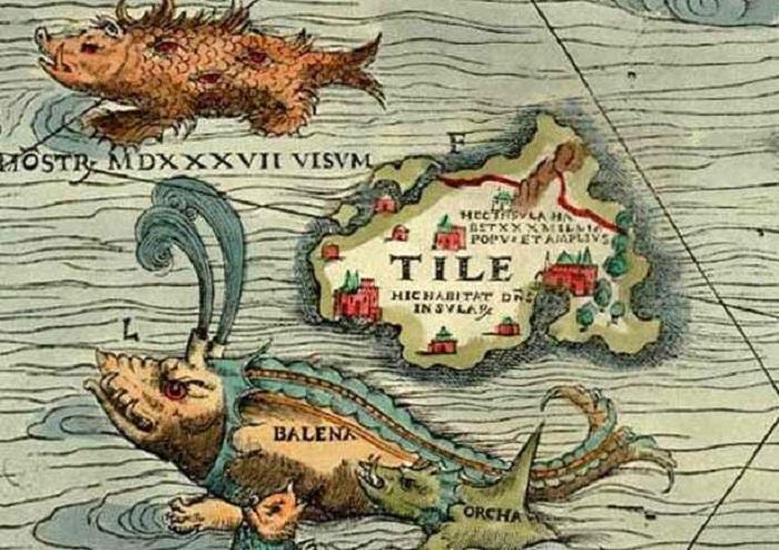 Мифическая земля, имеющая реальное расположение на карте.