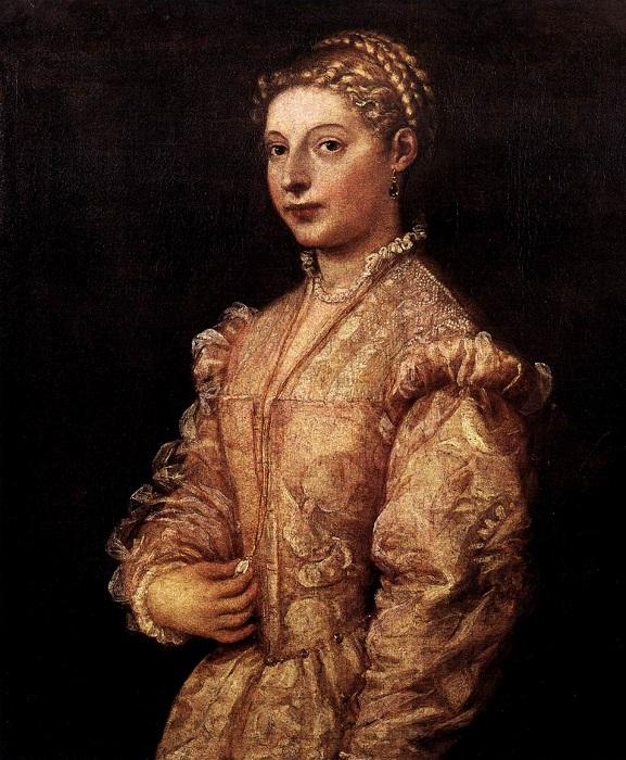 Портрет девушки (Лавиния). Тициан, 1545 год. | Фото: rushist.com.