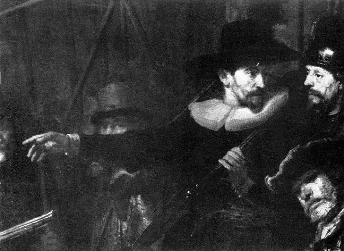 Рембрандт изобразил себя в картине «Ночной дозор». | Фото: maxpark.com