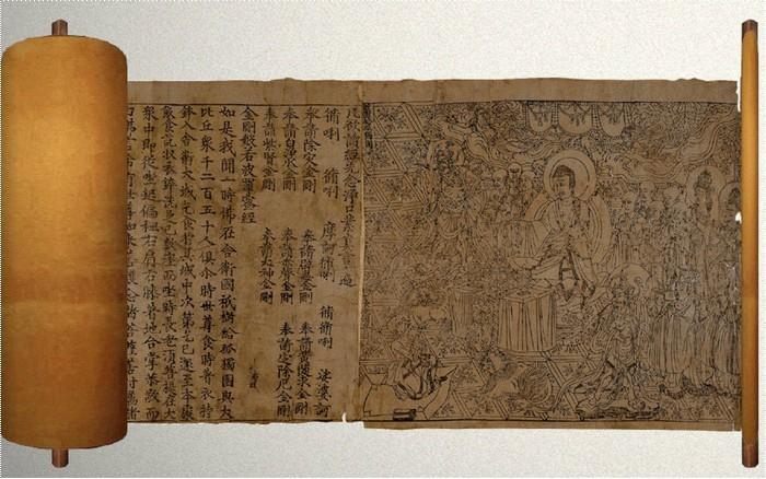 Алмазная сутра, датированная 11 мая 868 г. | Фото: maxpark.com.