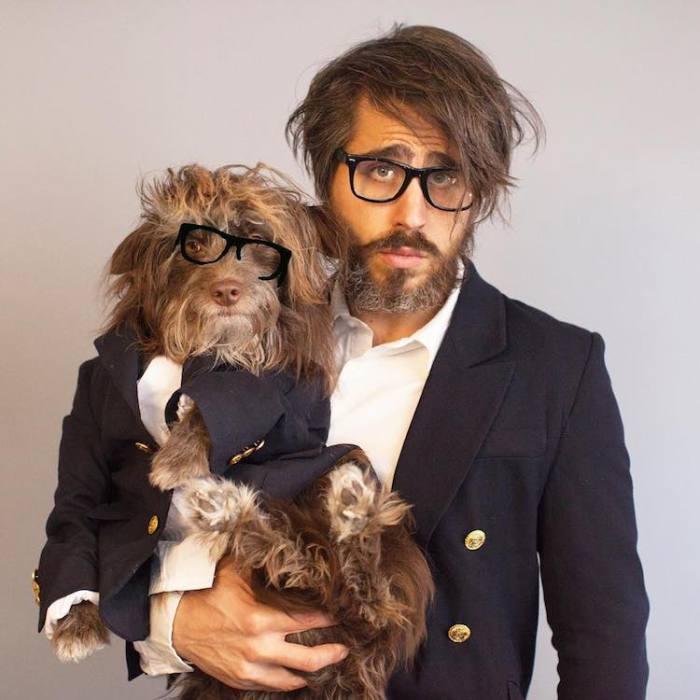 Собака, похожая на своего хозяина.
