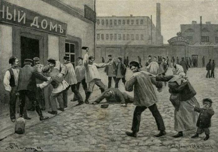 В середине XIX в России крестьяне должны были пить алкоголь только в закрепленных за ними кабаках. | Фото: colors.life.