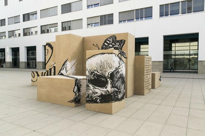 Арт-инсталляция от команды уличных художников «Truly Design».