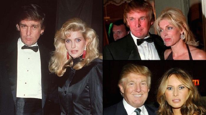 Три супруги Дональда Трампа. | Фото: etoday.ru.